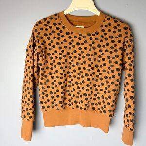 Madewell Tops - madewell polka dot sweatshirt